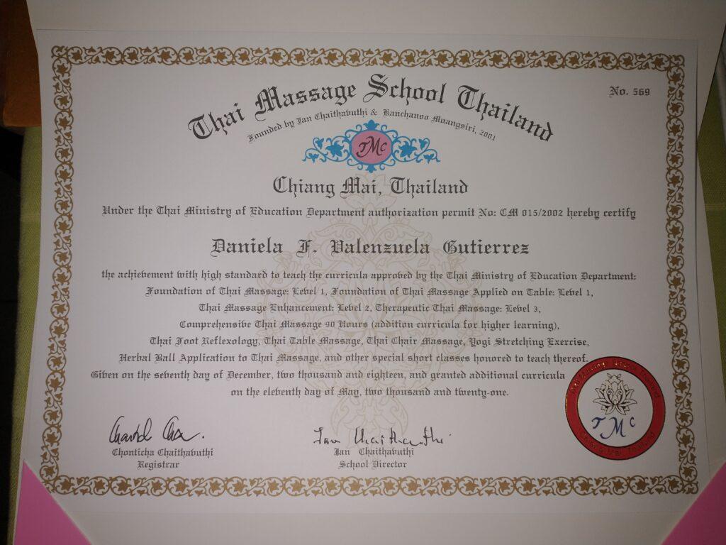Curso certificado en masaje Tai