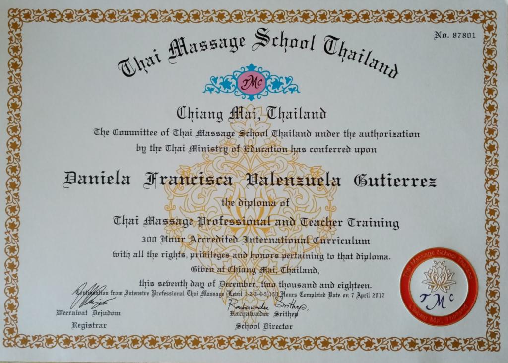 Thai massage teacher
