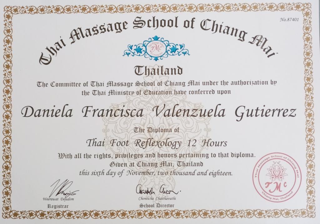 Curso certificado en Reflexologia Tai